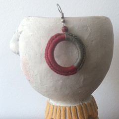 Hoop Crochet Earrings - Two Tone