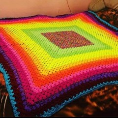 Single Fluro crochet blanket