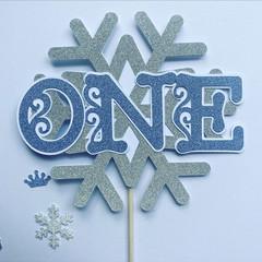 Frozen Winter Wonderland - cake topper - kids party - pick age - caketopper