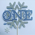 Frozen Winter Wonderland - cake topper - kids party - pick age - caketopper
