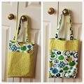 Handy Tote Bag - Green Apples - Totally Reversible