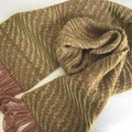Pure Wool Scarf, Handwoven, Hand Dyed, 22 micron merino wool