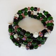 Wrap Bracelet in Mostly Green