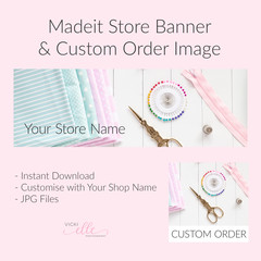 Madeit Store Banner & Custom Order Image - Sewing Supplies