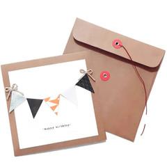 Handmade Happy Birthday Male Greeting Bunting Card