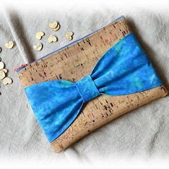 Blue Sparkle Bow Clutch