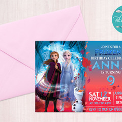 Frozen 2 Invitation, Printable Frozen Invitation, Frozen Birthday Invitation, Ed