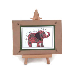 Recycled Elephant Greeting Card - Thinking of You