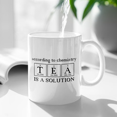 Tea is a Solution Personalised Ceramic Coffee Mug Cup - CM007