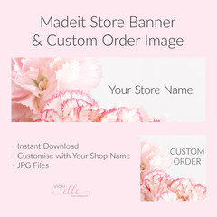 Madeit Store Banner & Custom Order Image - Pink Carnations
