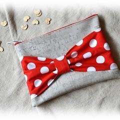 Red Polka Dot Bow Clutch