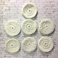 Seven Cream Colour Hand Crocheted Scrubbies