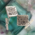 Sterling silver deco style handmade cufflinks