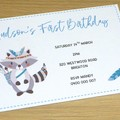 First Birthday invitations - tribal - boho animal