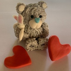 Teddy Bear Cake Topper  Valentines Day    Baby Shower    Me to You Bear