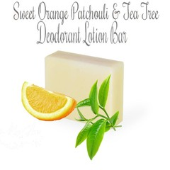 Sweet Orange, Patchouli and Tea Tree Deodorant Lotion Bar:100gram