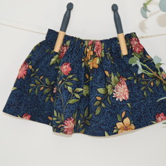 Girls cotton floral skirt