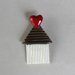 Home Is Where The Heart Is Brooch