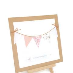 Handmade Happy Birthday Bunting Greeting Card