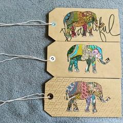 Gift Tags/ Bookmark Elephants (1 tag=1 item)