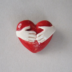 Tiny Hold On To Your Heart Brooch
