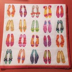 Shoes Decoupage Napkins, German Craft  paper napkins,