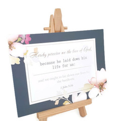 Christian Bible Verse Floral Cards Scripture Memorization Pack of 5
