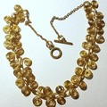 Gold Egyptian coil  necklace, Statement jewelry piece necklace,