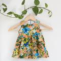 Size 1-Upcycled Tropical Sleeveless Toddler Dress
