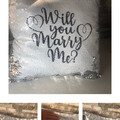 Will you Marry Me, Sequin Cushion Cover, Valentines Surprise, Wedding Proposal