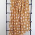 Large Muslin Cotton Wrap - Mustard star bursts