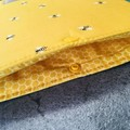 Organic cotton Bumblebee padded book sleeve. Booksleeve with Closure