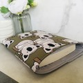 Koala print padded book sleeve. Australian wildlife Booksleeve with Closure