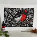 Australian Birds - Red-Capped Robin Edition 3/25
