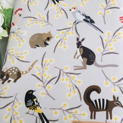 Australian wildlife print padded book sleeve. Booksleeve with Closure