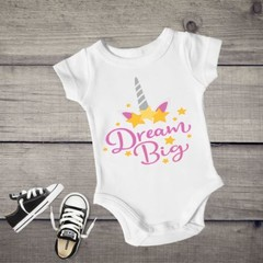 Dream Big Unicorn Baby Girl Onesies