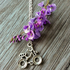 Time to Ride Necklace