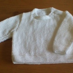 BABY BOYS JUMPER KNITTED IN ACRYLIC TO FIT 0 TO 3 MONTHS