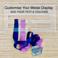 CUSTOM Sports Medal Holder, Medal Hanger Display, Gymnastics, Swimming, Running