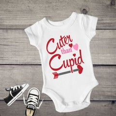 Cuter The Cupid Baby Girl Onesie