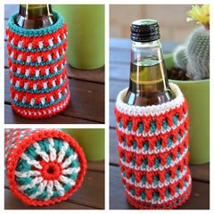 Set of 2 - Christmas Stubby Coolers/Bottle Cosies