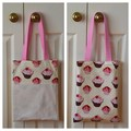 Handy Tote Bag - Cupcakes - Totally Reversible