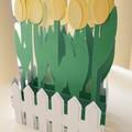 Tulip box card - Yellow