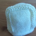 BABY PRINCESS BONNET IN ACRYLIC TO FIT 0 TO 3 MONTHS