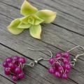 Hot Pink Stone Earrings