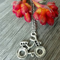 Time to Ride - Bike  Charm Necklace