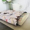 Australian wildlife print padded book sleeve. Booksleeve with Closure