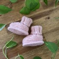 Clancy Bootees - Hand Knitted - Size Newborn to 3 months
