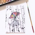 FREE POST | Junior Artist Blank Art Card | Birthday, Thinking of You