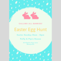 INVITATION - CUSTOMISED PRINTABLE DOWNLOAD, EASTER EGG HUNT!